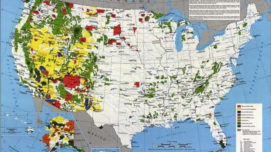 How Much Is Enough - Us federal lands map
