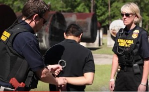 EPA Special Agents training with bulletproof vests