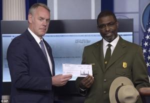 Zinke Gives Trump's NPS Check